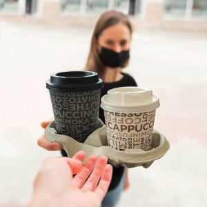 Coffee line paper cups for coffee and hot drinks