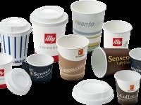 Verschlüsse und Deckel aus Polystyrol für tassen für kaffee und heiße getränke