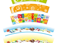 General graphics for ice cream cups