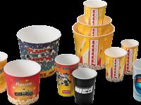 Pop-corn buckets in customizable paper