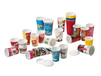Polystyrene lids for solid board cups
