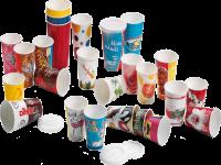 Cups in paper