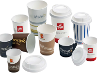 Coffee cups in paper
