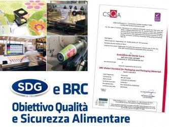 Certificazioni SDG: nuova certificazione BRC standard globale per l'imballaggio e i materiali da imballaggio