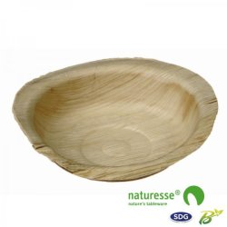 Assiette ronde en feuille de palme ø 12 cm - 5029 ex 809