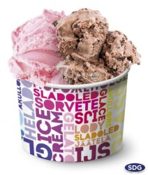 Small paper ice cream cup 90ml - 80
