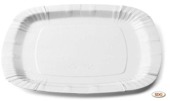 Square 24x24 cm paper dish - 205
