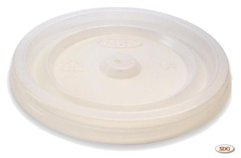 Flat polystyrene lid for 4 OZ cup - 4oz-1