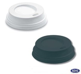 Lid with spout in polystyrene for 9 OZ cup - 9oz-2