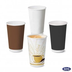16 OZ 550 ml Double wall paper cup - 109DW