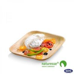 17x17 cm Square palm leaf dish 801