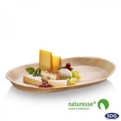 Oval serving tray in 54x31x4 cm palm leaf - 4747 (ex 810)