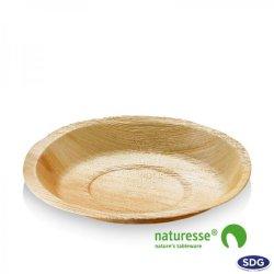 Ø 22 cm Round dish in palm leaf - 5037 (ex 803)