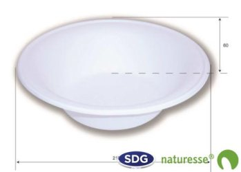 Cellulose pulp round soup plate 910 ml ø 21 cm - 15441 ex 408/P