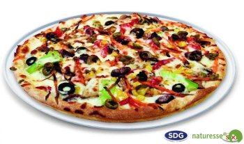 Cellulose pulp Dinner plate for pizza ø 32.5 cm - 10485 ex 419/P