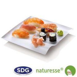 """Cellulose pulp square plate in 15x15 cm - """"Finger Food"""" line - N133 ex 421/P"""