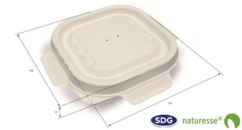 Cellulose pulp Closable lid for 230 ml and 340 ml - 3455 ex CSL020