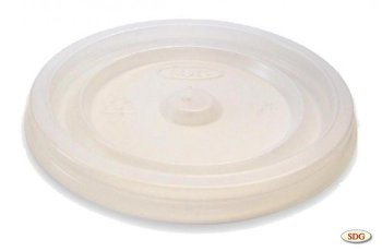Plane lid in polystyrene for 6oz cup – 6oz-1