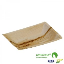 12x17 Rectangular plate in palm leaf – 3391