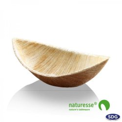 "PALM LEAF TRAY ""BOAT"" - N731"