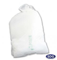 138L MATER-BI WHITE GARBAGE BAG