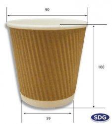 BROWN KRAFT AROMA RIPPLE CUP 12OZ - 70710 - 300ML