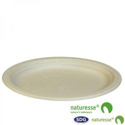 CELLULOSE PULP OVAL PLATE 26X19CM NATURE - N153