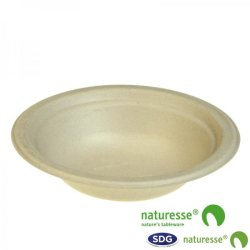 CELLULOSE PULP ROUND BOWL 400ML NATURE - N154