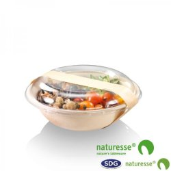 CELLULOSE PULP ROUND BOWL 900 ML NATURE - 14971