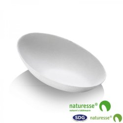 CELLULOSE PULP FINGER FOOD OVAL LITTLE TRAY - 15355