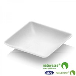 CELLULOSE PULP FINGER FOOD LITTLE SQUARED TRAY - 15356