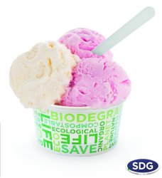 450 Biodegradable paper ice-cream cup - 450-60