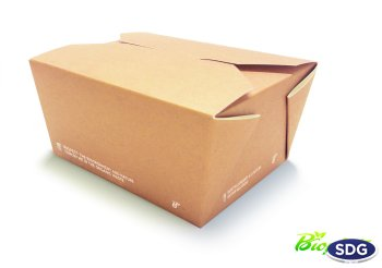 COMPOSTABLE FOOD BOX BIO - 160X90X60H - COD. 639-65