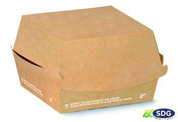 12X12X11 TAKE AWAY BIO COMPOSTABLE HAMBURGER BOX 615-65