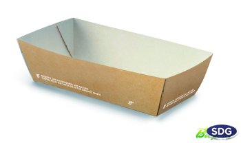 COMPOSTABLE TAKE AWAY FAST FOOD TRAY 612-65