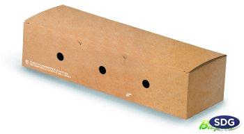 COMPOSTABLE CLOSABLE HOT DOG HOLDER 616-65