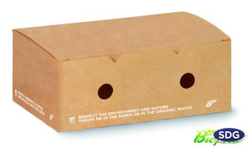 COMPOSTABLE TAKE AWAY FAST FOOD NUGGETS BOX 606-65