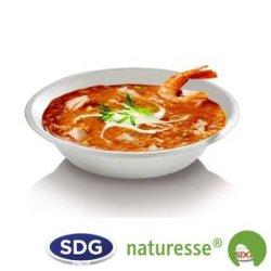 Assiette ronde creuse en canne à sucre 680 ml ø 19 cm - 413/P