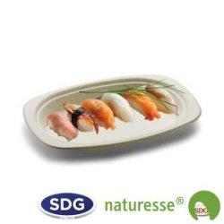 Assiette ovale en pulpe de cellulose 23x16 cm - 12502 ex 412/P