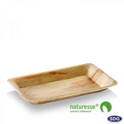 Assiette rectangulaire en feuille de palme 24x16 cm - 5034