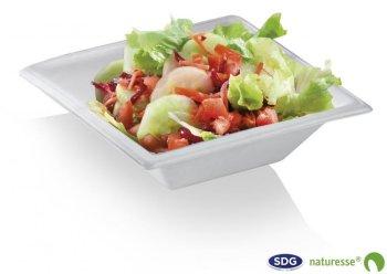 """Assiette creuse en pulpe de cellulose ligne """"Elegance"""" 450 ml - N202"""