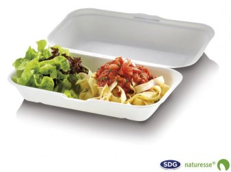 Food Box en pulpe de cellulose 23,5 x 19,5 x 7,5 cm - 3463