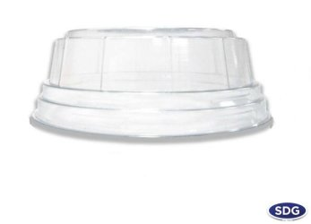 COUVERCLE PET DOME EMPILABLE 95MM