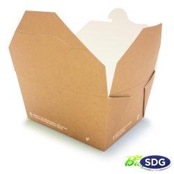 FOOD BOX BIO COMPOSTABLE - 110X90X65H 636-65