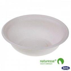 Assiette ronde creuse en pulpe de cellulose 910 ml ø 21 cm - 12665 ex 15441
