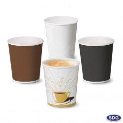 Bicchiere di carta per bevande calde 6 OZ - 215 ml - 107
