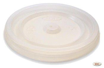 Coperchio piano in polistirene per bicchiere da 4 OZ - 4oz-1