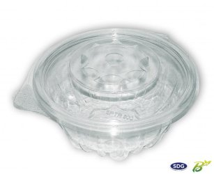 Vaschetta trasparente in PLA 375ml - SPTR375