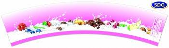 "Grafica generica ""Latte - Frutta"" in rosa"