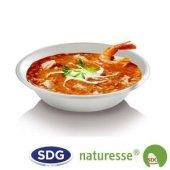 Round soup plate in 680 ml ø 19 cm sugar-cane - 413/P